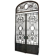 antique grand french colonial iron double door gate eron johnson