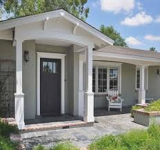 soft grey paint wall color ranch house renovations with brown roof