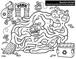 recycling maze coloring page coloring sky