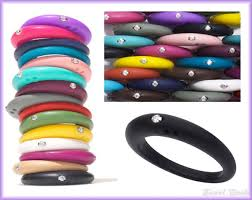 jewelry rubber rings images Duepunti rubber rings with diamonds jpg