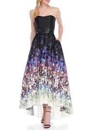 betsy and adam betsy adam floral strapless gown belk