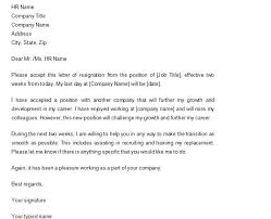 Best Way To Do Resume by 40 Two Weeks Notice Letters U0026 Resignation Letter Templates