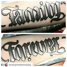 jan 7th family forever ambigram tattoos
