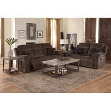 Cloth Reclining Sofa Dual Recliner Sofa With Console