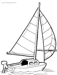 boat coloring page coloring pages for kids transportation