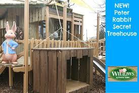rabbit treehouse new rabbit adventure playground at willows activity farm