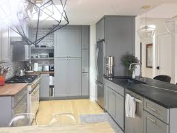 small kitchen gray cabinets modern studio gray kitchen with zenbelly a chef s