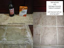 Cleaning Grout With Hydrogen Peroxide Baking Soda And Hydrogen Peroxide Grout Cleaner Balancing The Busy