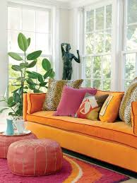 Living Room With Orange Sofa Pink And Orange Living Room Design Ideas Pictures