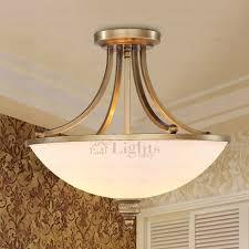 Semi Flush Ceiling Lights Pastoral Wrought Iron Fixture Semi Flush Ceiling Light