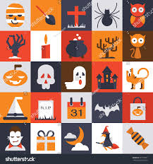 halloween vector collection simple character flat stock vector
