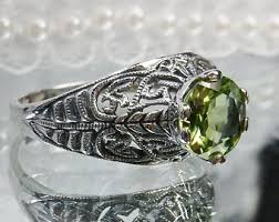 antique peridot ring etsy
