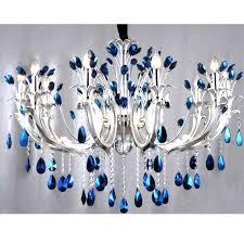 blue crystal chandelier light attractive blue crystal chandeliers on modern peacock chandelier