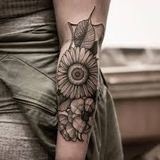 sunflower tattoo meaning and designs