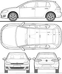 volkswagen drawing volkswagen golf 2013 blueprint download free blueprint for 3d