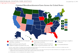 Map Of Te United States by Criminal Disenfranchisement Laws Across The United States