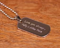 Personalized Mens Necklaces Boyfriend Necklace Etsy