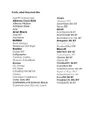 Corbel Bold Ms Font List