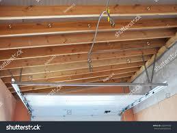 garage door post rail spring installation stock photo 328344758