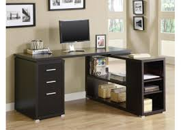 All Wood Computer Desk Desk L Shaped Black High Gloss Finished Solid Wood Computer Desk