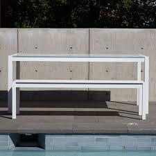 skiff outdoor bench modern outdoor seating blu dot