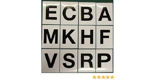 12 black letter stickers for dressage arena markers abce fhkm prsv