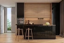 sleek modern kitchen kitchen modern design wood normabudden com