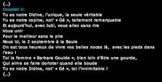 chanson mariage persong oeuvres de persong