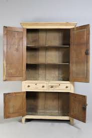 mid 19th century original painted pine kitchen larder cupboard