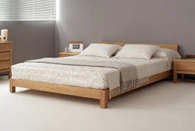 Wooden King Size Bed Frame Platform King Size Bed Frame Hand Built The Nevada Is A Quality