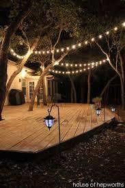 How To Hang Patio Lights Best 25 Patio Lighting Ideas On Pinterest Garden Lighting Ideas