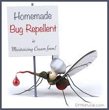 homemade mosquito repellent in a nice moisturizing cream