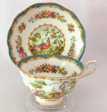 royal albert bone china chelsea bird blue teacup and saucer from
