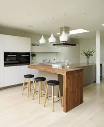chic modern breakfast bar table kitchen room design small kitchen