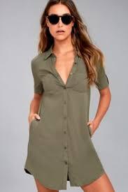 chic olive green dress sleeveless dress trapeze dress 38 00