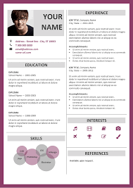 word resume template fitzroy modern border resume template