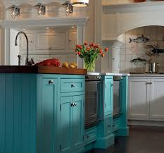colorful kitchen islands the blue color for this eye opening kitchen island was discovered by