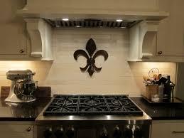 Kitchen Design Backsplash Ornament Fleur De Lis Kitchen Decor - Stainless steel cooktop backsplash