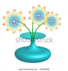 Clipart Vase Of Flowers Vase Flowers 3d Stock Illustration 416552965 Shutterstock