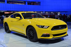 photo gallery 2015 ford mustang in triple yellow mustang news