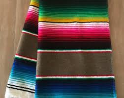 Serape Table Runner Mexican Serape Table Runner Southwestern Decor Tribal Party