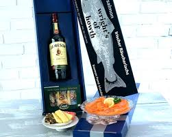 salmon gift basket smoked salmon gift basket and cheese baskets box calgary uk