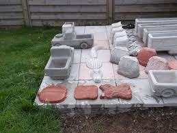 concrete garden lorry planters stepping stones and garden