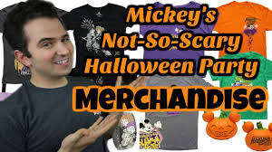 scary halloween t shirts mickey u0027s not so scary halloween party merchandise youtube