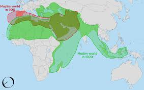 World Map 1500 by Os The Muslim World Between 900 1500 1357 628 Mapporn
