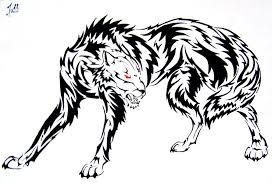 tribal wolf by rainbowchickensoup on deviantart