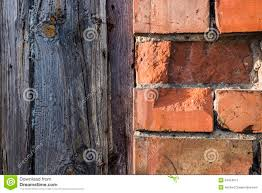 Half Wood Wall by Brick Wall And Wood Planks Texture Stock Photo Image 53424971
