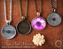 diy necklace pendants images 50 piece diy kit make beautiful cabochon settings 1 inch circle jpg
