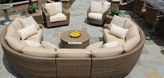 Circle Patio Furniture by 25 Awesome Modern Brown All Weather Outdoor Patio Sectionals