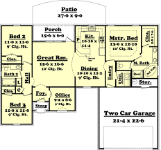 european style house plan 3 beds 2 00 baths 1500 sq ft plan 430 53